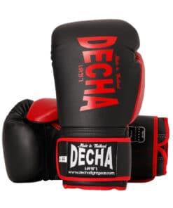 Gants Boxe Thai Decha Dbgvl1 Noir Rouge 01