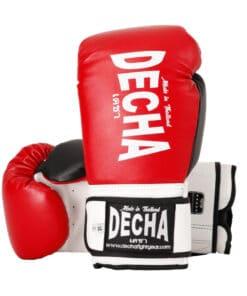 Gants Boxe Thai Decha Dbgvl1 Rouge 01