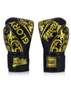 Gants Boxe Thai Fairtex Glory Edition Limitee Velcro Bgvg2 Noir 01