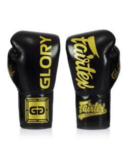 Gants Boxe Thai Fairtex Glory Lace Up Bglg1 Noir 01